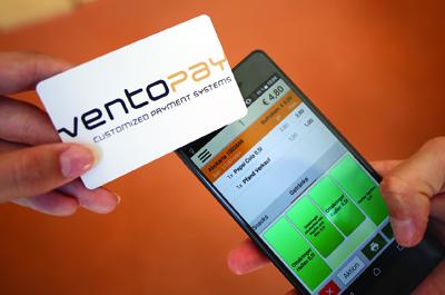ventopay Karte und Smartphone mit passender Anwendung