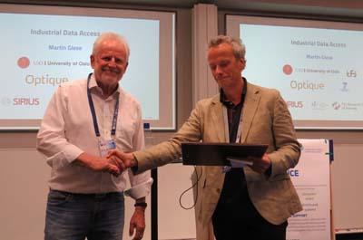 Prof. Bruno Buchberger und Prof. Christoph Weidenbach bei der Verleihung in Oxford