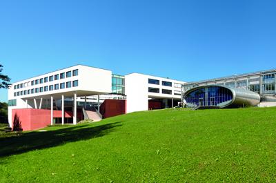 Panorama-Bild der FH OÖ Campus Hagenberg mit Ellipse