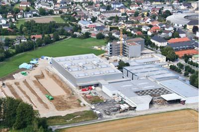 Luftbildaufnahme Werk Attnang-Puchheim