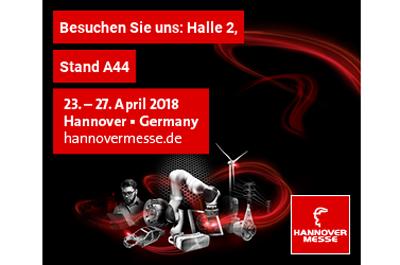 Banner für RISC Software GmbH Stand auf Hannover Messe 2018