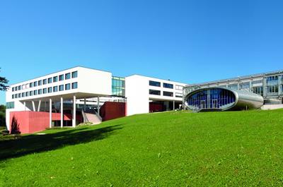 Teil des Gebäudekomplexes der FH OÖ Campus Hagenberg
