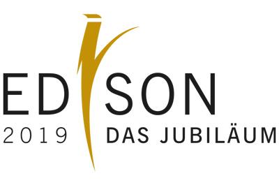 """Logo """"Edison der Preis"""" Jubiläum 2019"""