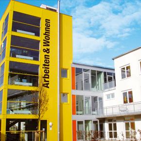 Aussenansicht Bürogebäude Arbeiten & Wohnen