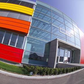 Aussenansicht Bürogebäude IT-Center