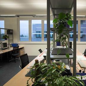 Beispielbüro im Bürogebäude amsec