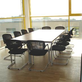 Besprechungsraum im Gebäude Arbeiten & Wohnen